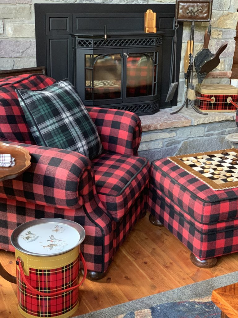 Re Buffalo Plaid chair and checker board