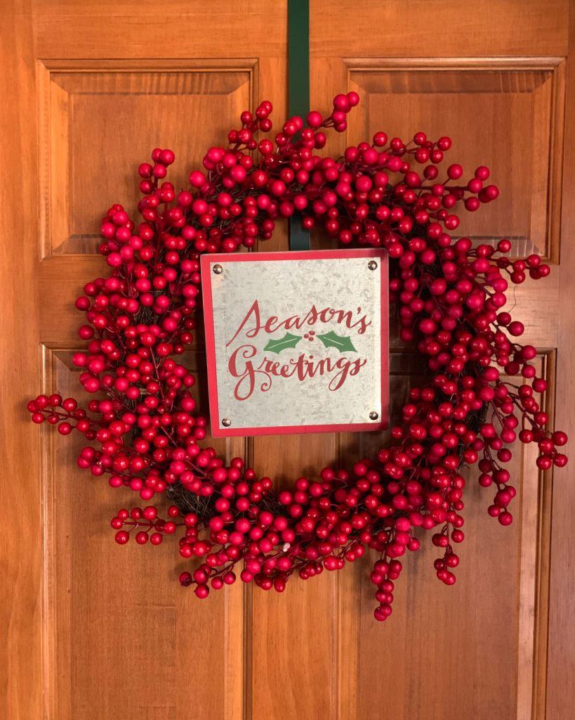 Christmas Wreath Cranberries
