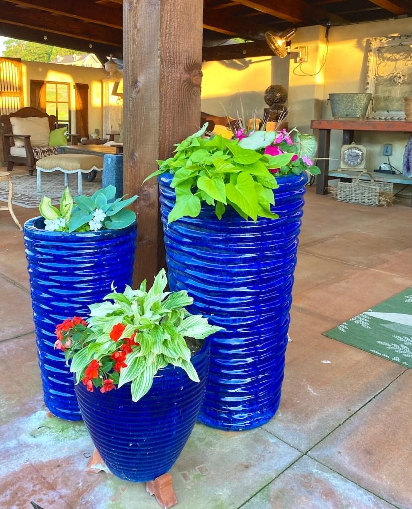 Easy Porch Planters