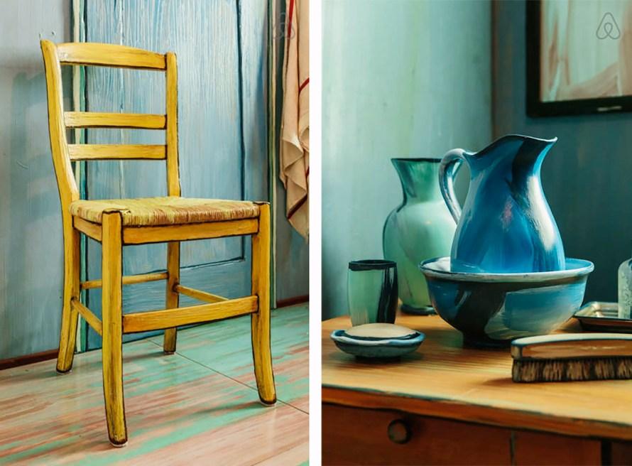 Van Goghs Bedroom Airbnb detail