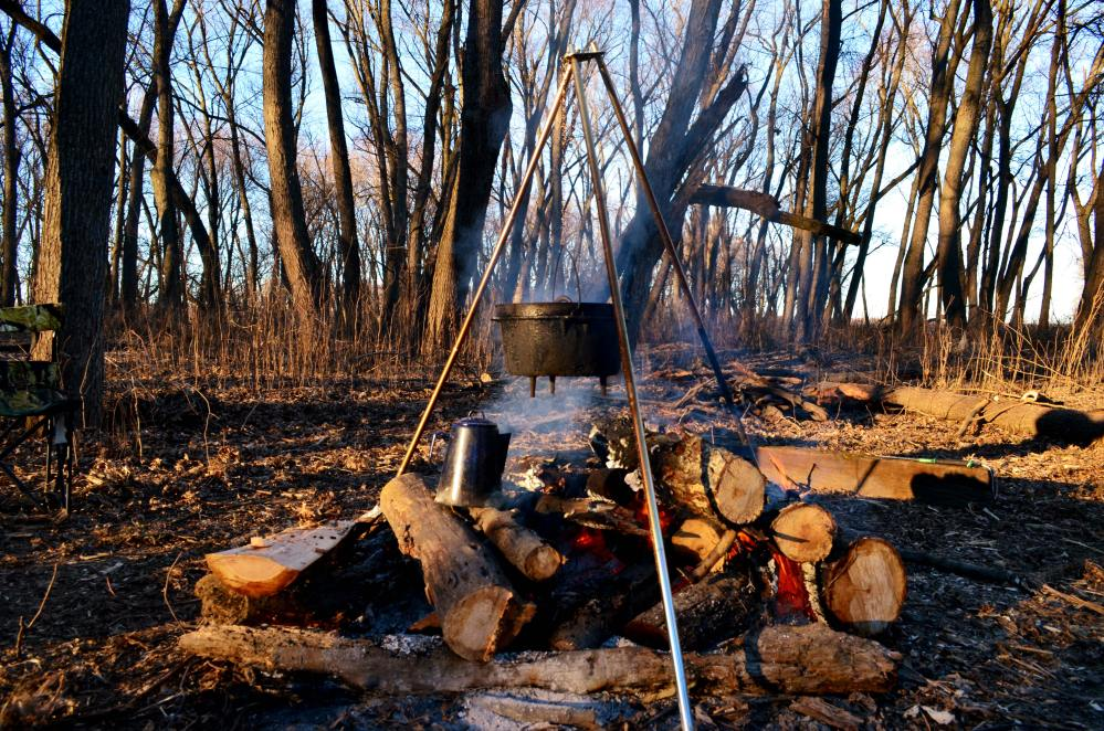 Campfire with Dutch Oven