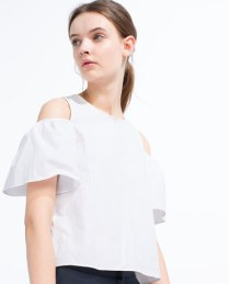 off shoulder zara white