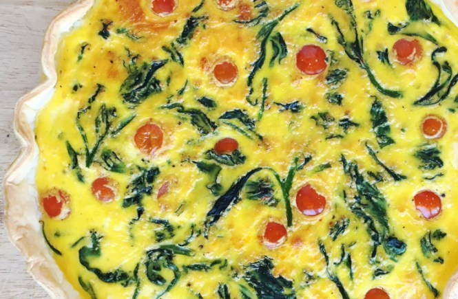 tomato and spinach quiche