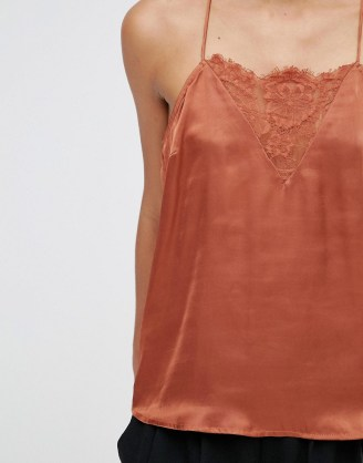 lace insert cami top asos
