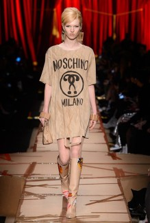 Moschino Autumn Winter 2017 Paper Bag Dress