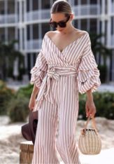 stripy jumpsuit
