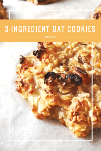 3-ingredient healthy oat cookies recipe