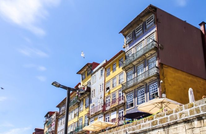 Ribeira colourful and traditional houses - Porto, Portugal