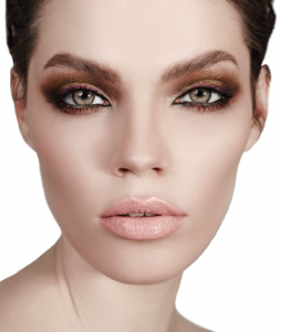 metallic smoky eyes