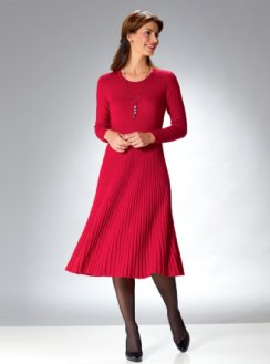 Luxurious merino dress in red