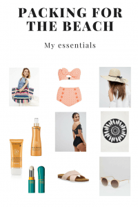 Packing for a day at the beach - essentials