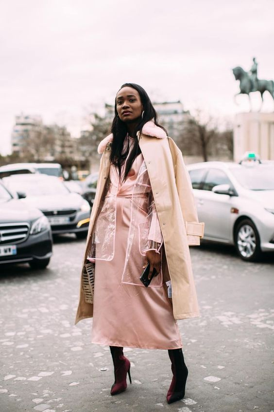 outerwear layers autumn winter 2018 pastel pink