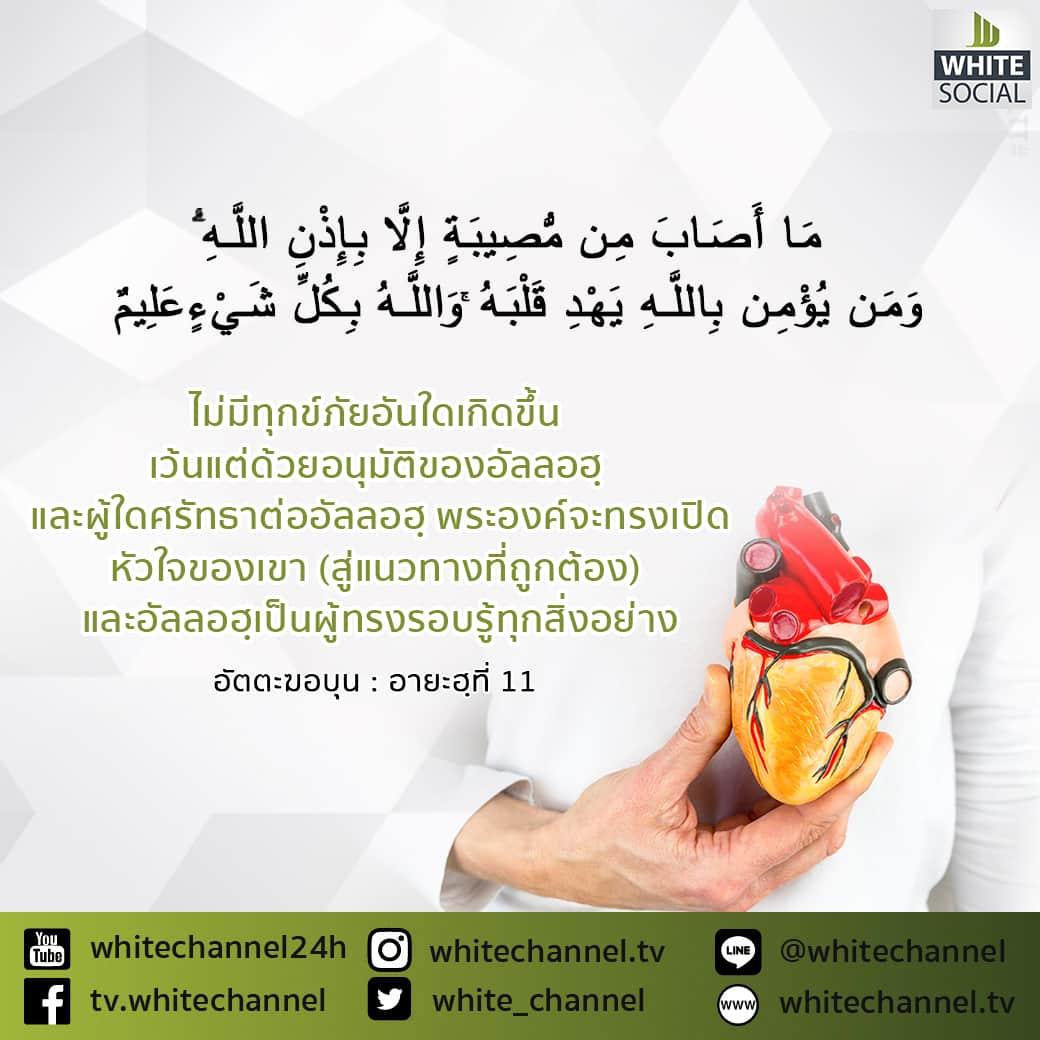 ใครศรัทธาต่ออัลลอฮฺ พระองค์จะทรงเปิดใจของเขา สู่แนวทางที่ถูกต้อง