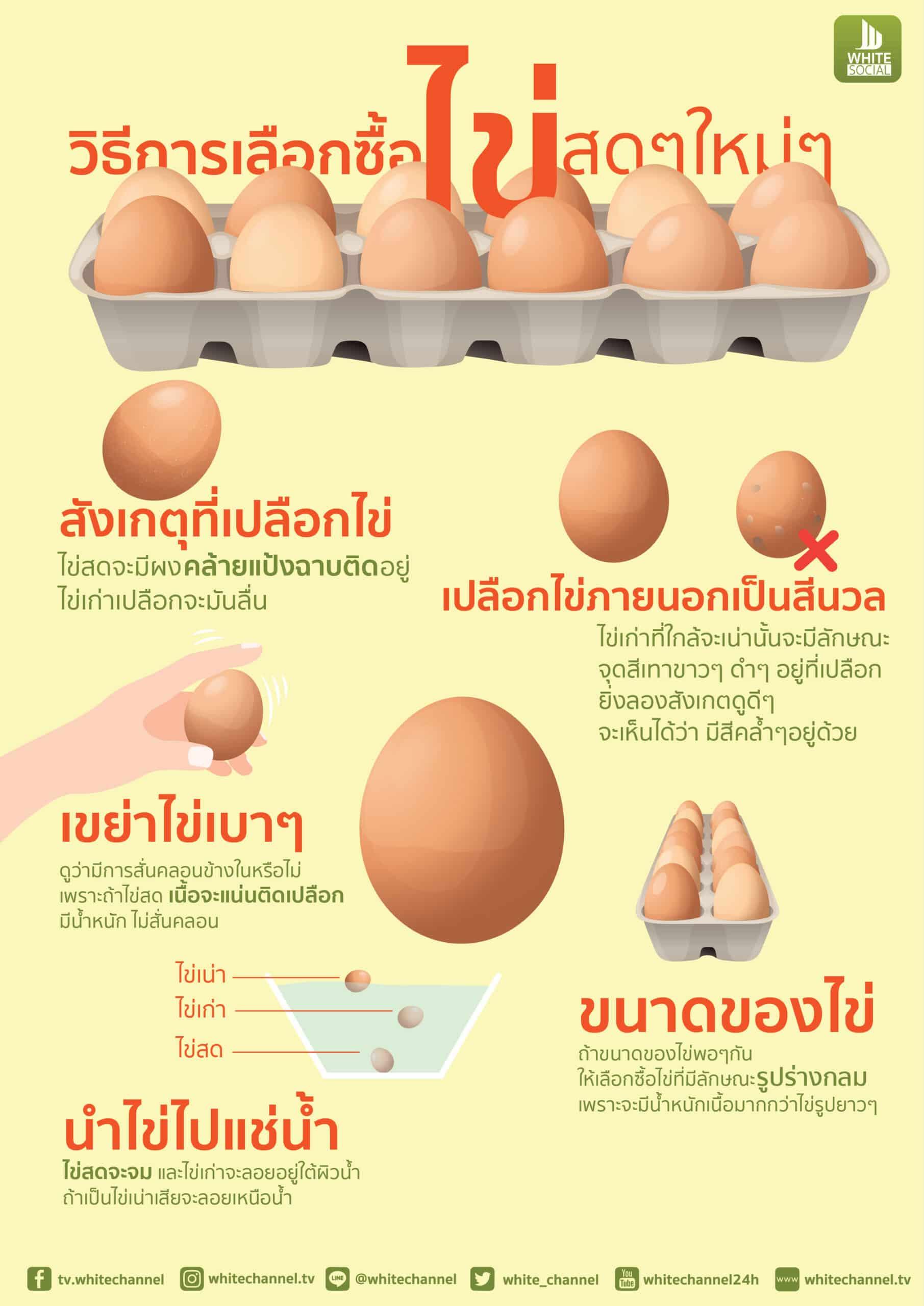 5 วิธีเลือกซื้อไข่ไก่