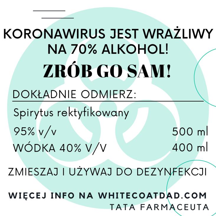 alkohol koronawirus dezynfekcja