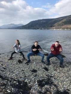 Aurora, Astrid, and Garry in Scotland