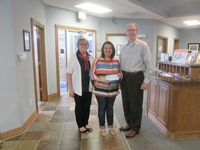 On Tuesday, May 9, 2017, Rick Blue, President of White Eagle and Debbie Morse, Newton Branch Manager presented a donation to Tami Lakey for the So Shine Foundation.