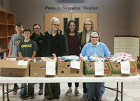 White Eagle - El Dorado collected food items and helped package Thanksgiving Blessing Meal boxes this past week.