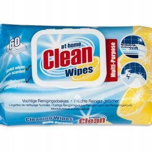 Салфетки влажные универсальные 60шт At Home Clean Lemon