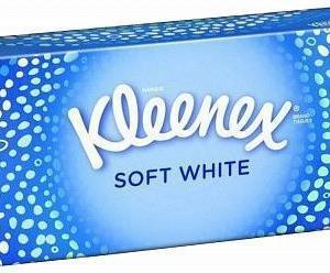 Сухие салфетки 70шт Kleenex Soft White 2 Ply
