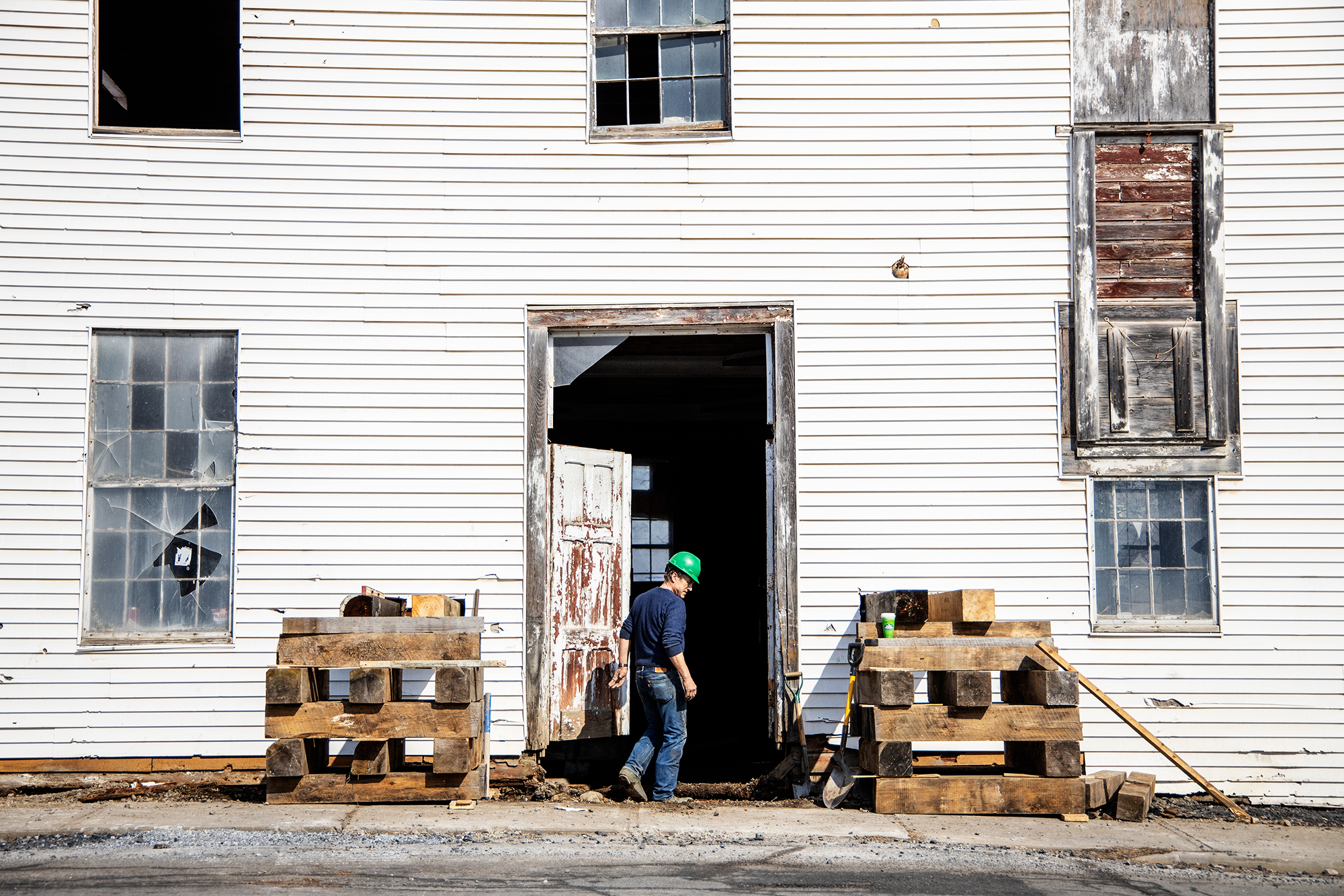 Construction on Vermont brownfield