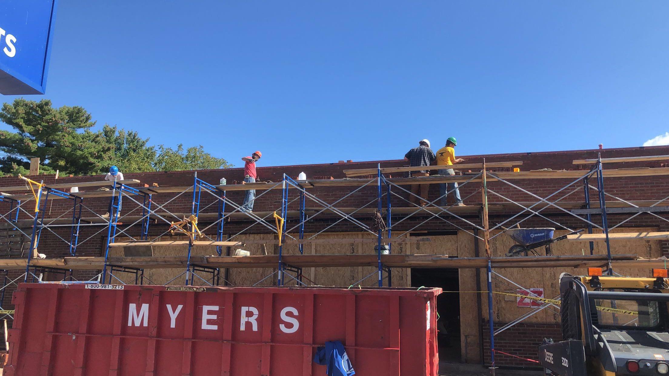 white falcon scaffolding