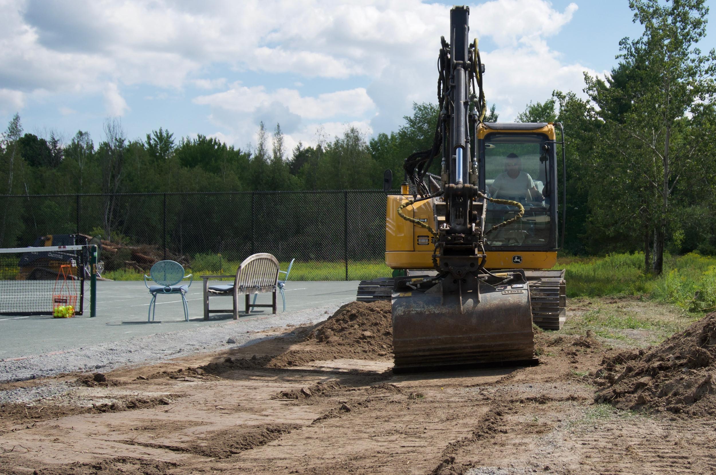 tennis court excavation