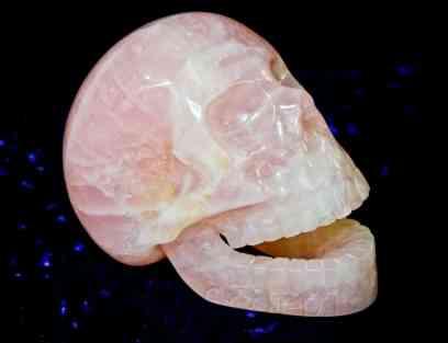 Pink Quartz Skull