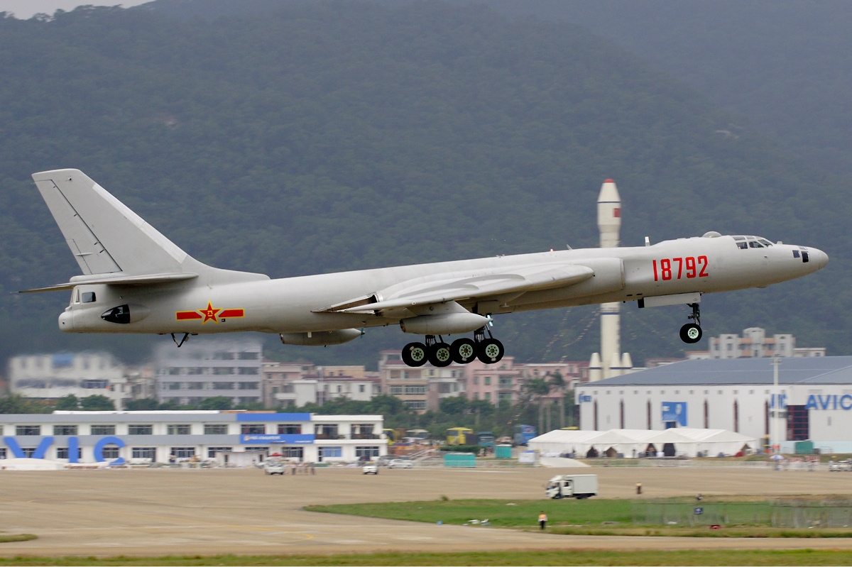 A PLAAF H-6 aircraft, one of the many Chinese aircraft capable of launching ASCMs.