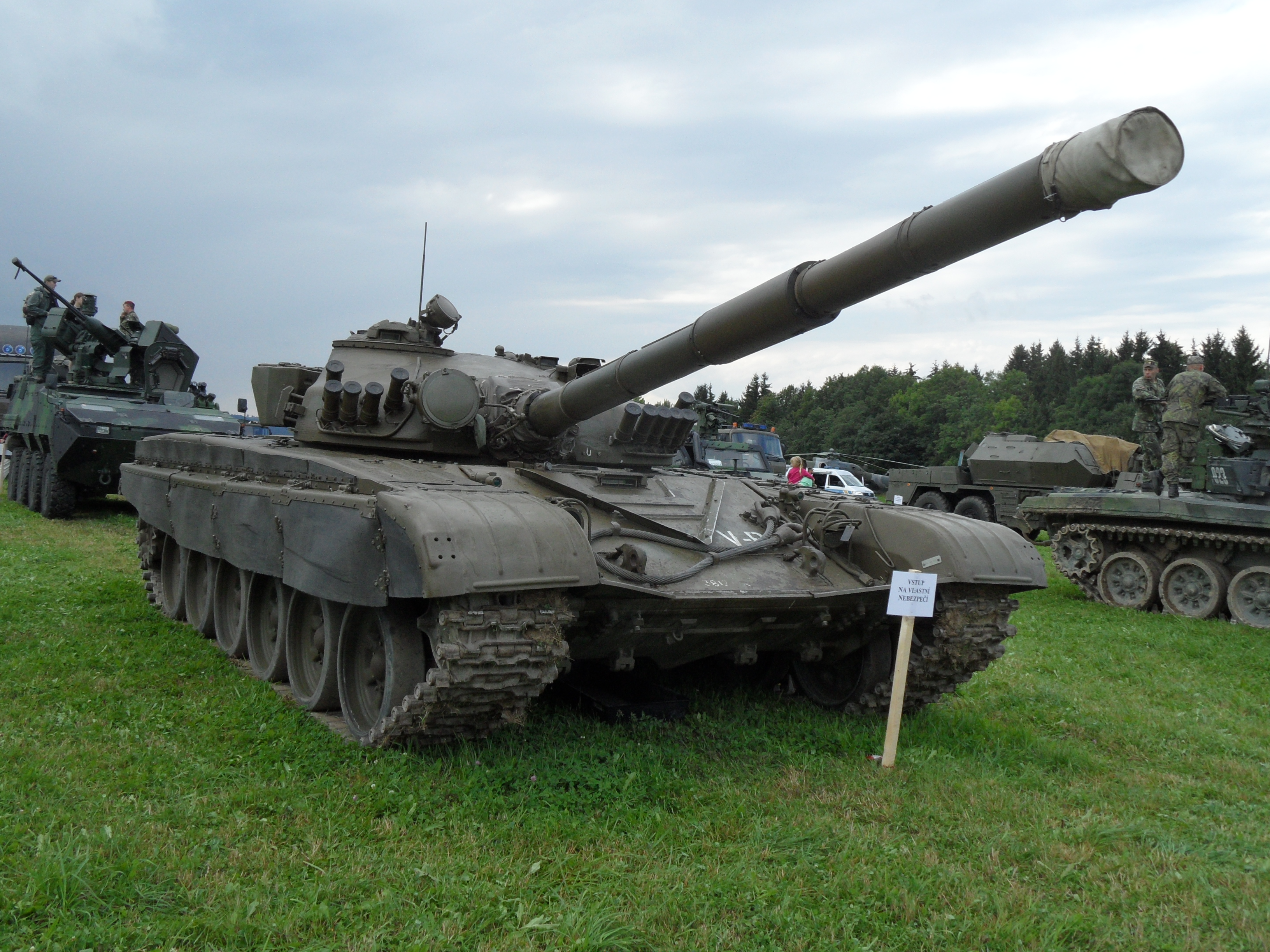 A T-72 tank. The PT-91 is an upgraded version of the T-72.
