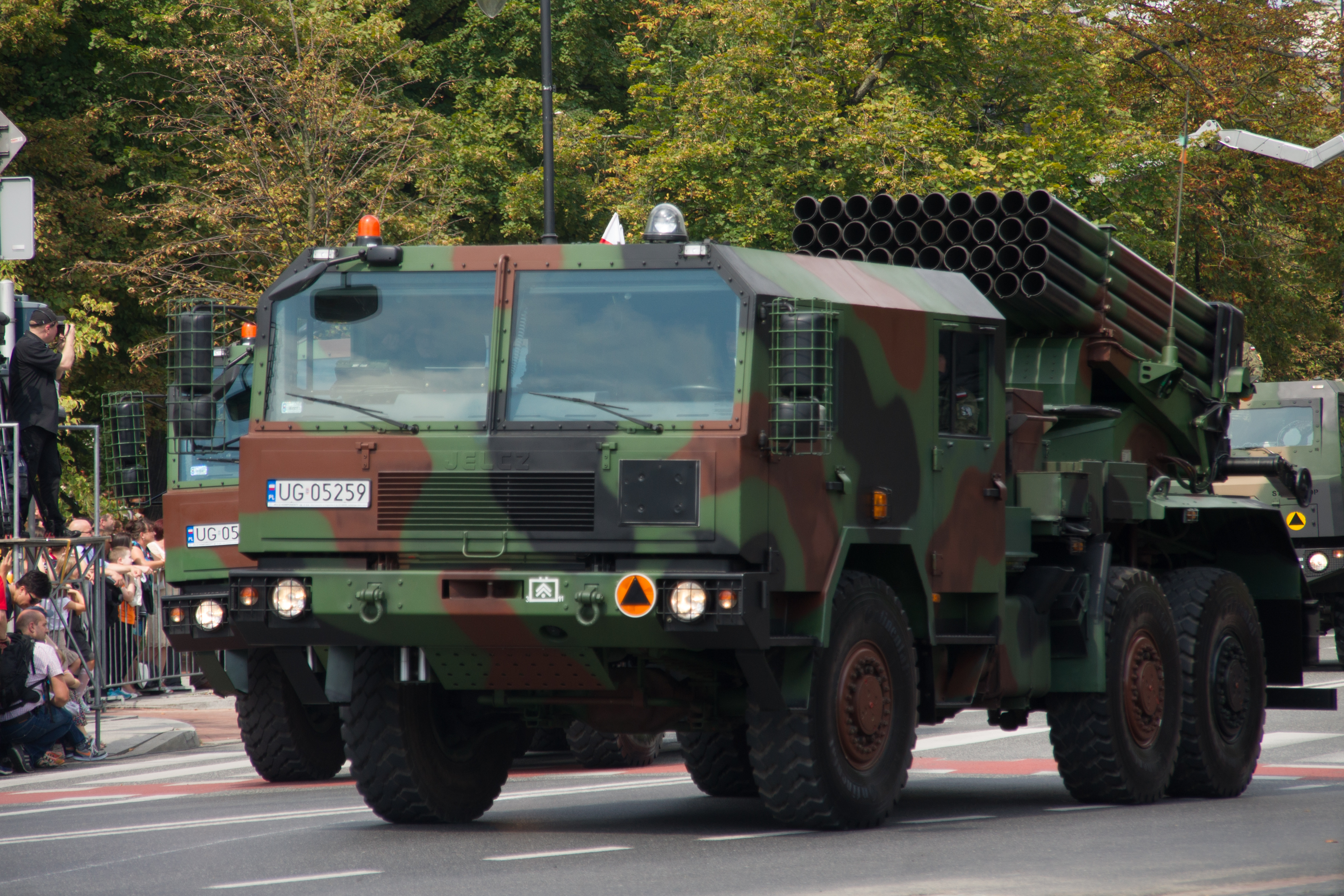 WR-40s during a Polish military parade.