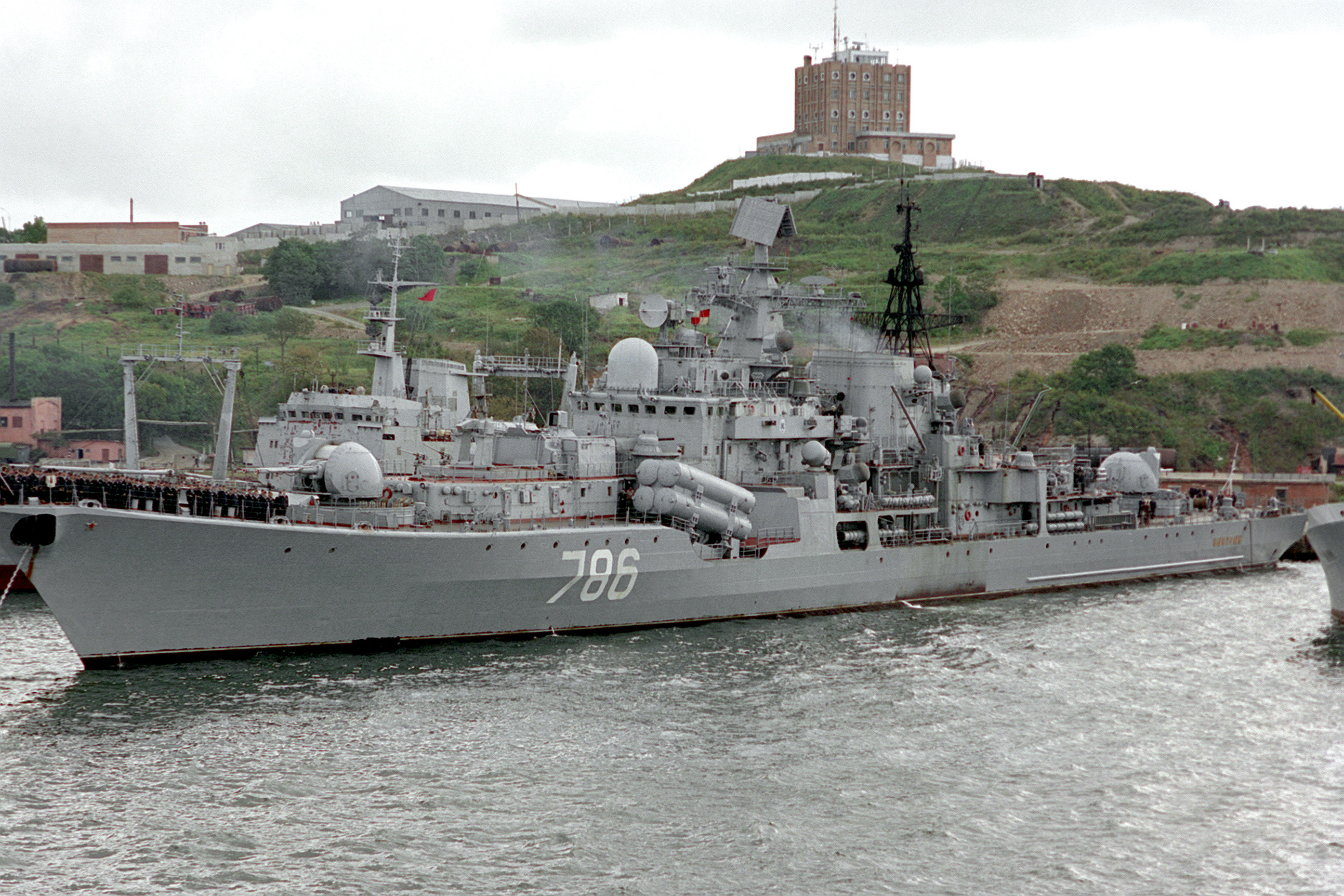 A Soviet Sovremenny-class destroyer. The Sovremenny-class was designed principally as an anti-surface warship.