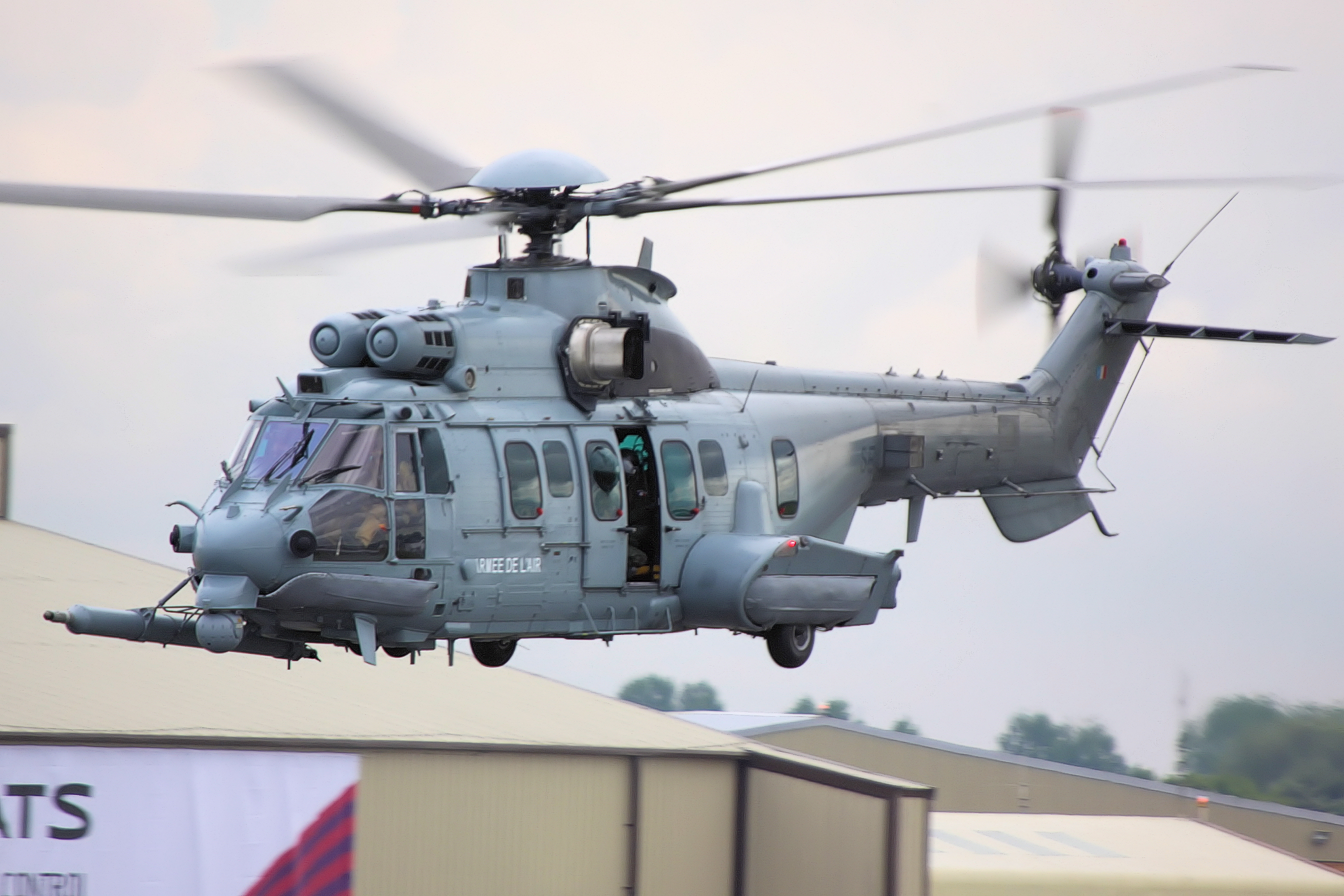 A Eurocopter EC725 Caracal during the Royal International Air Tatoo airshow.