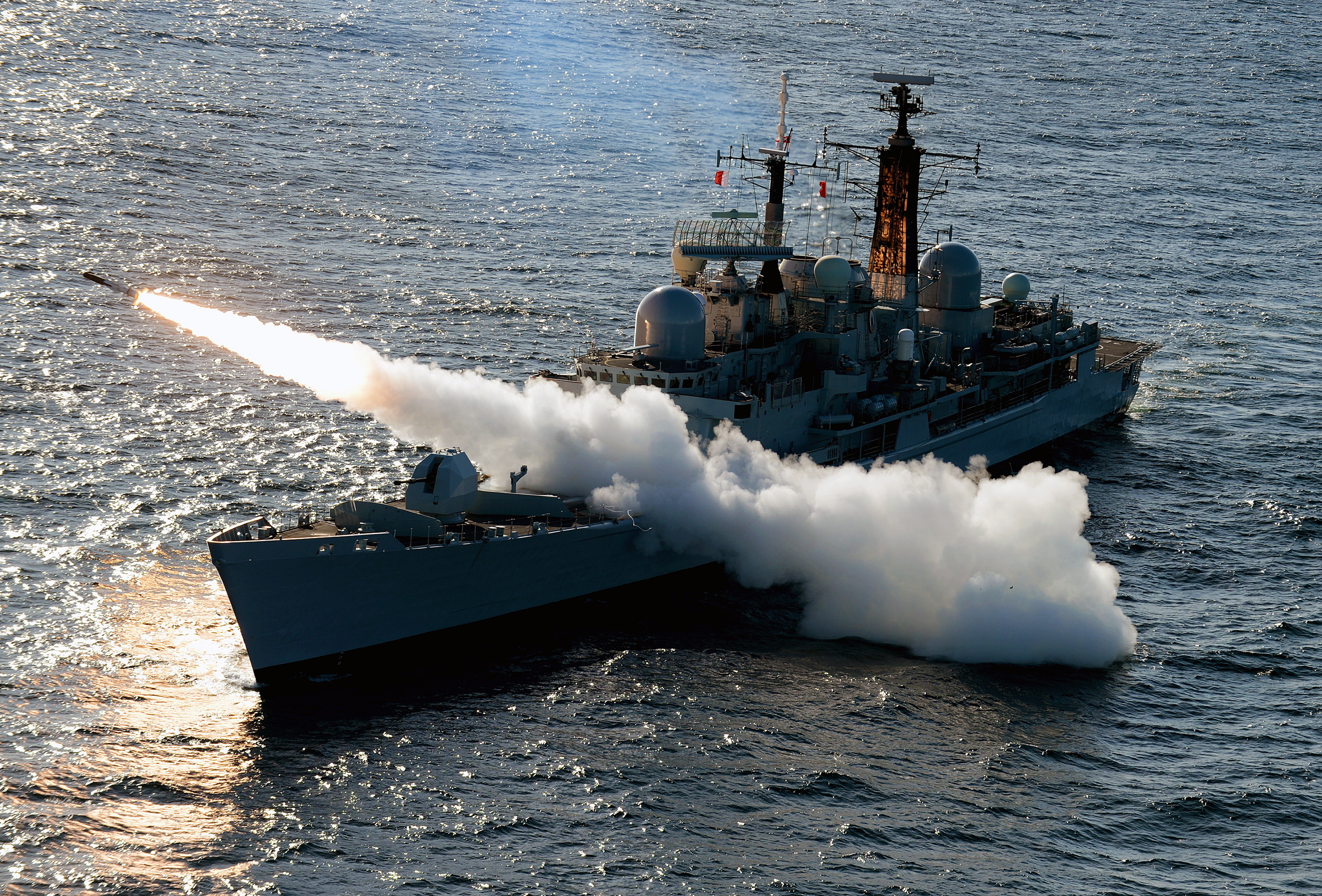 HMS Edinburgh Fires Final Sea Dart Missiles