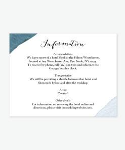 Wedding Details Cards