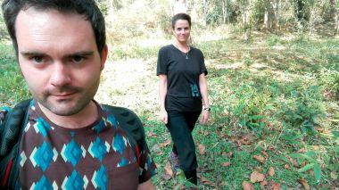 selfies in the woods