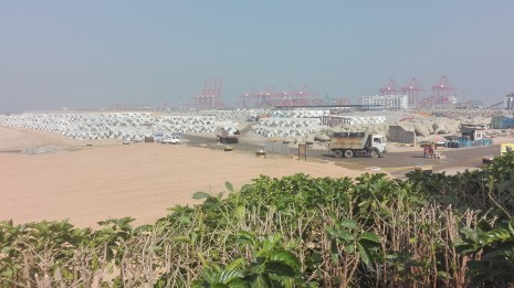 The site of a massive Chinese business project