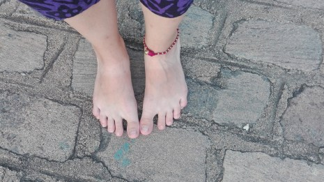 tan marks from walking shoes!