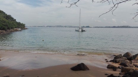 view of Galle from Jungle Beach