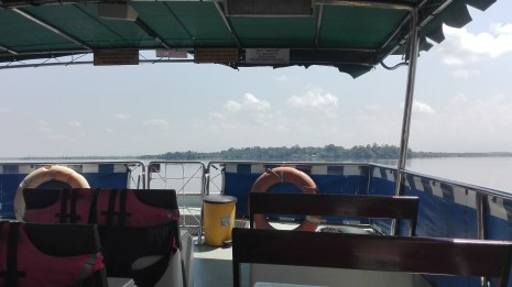 Orang Utan Island in the distance