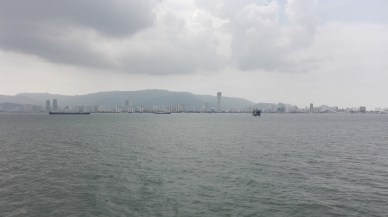 Penang view from ferry leaving Butterworth