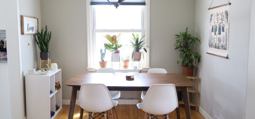 my home: dining space