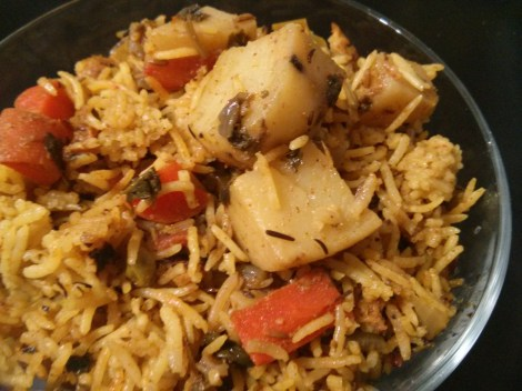 Easy Rice Cooker Spicy Rice With Veggies - Whitbits Indian ...