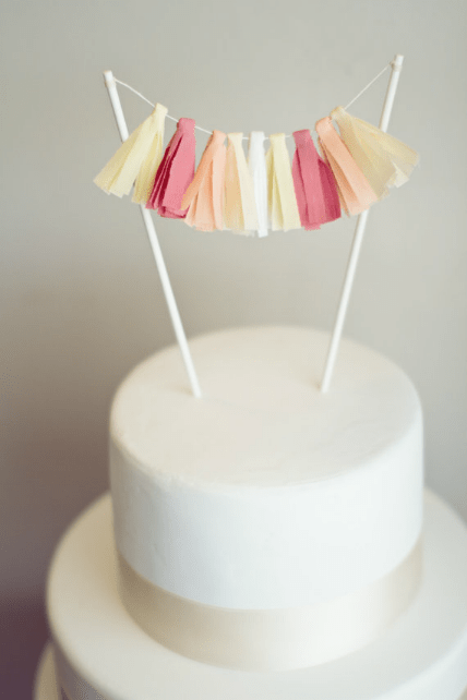 cake topper with tassels