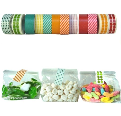 packaging treats with tape