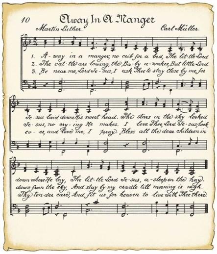 Christmas music, away in the manger