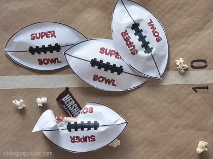 Super bowl paper footballs