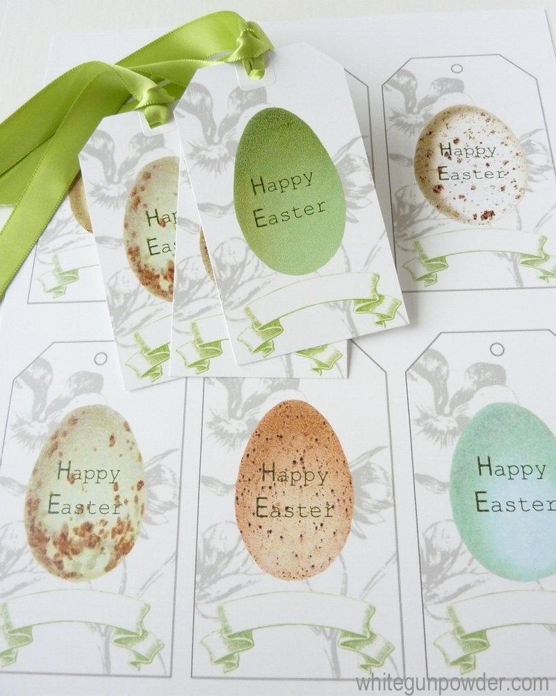 Easter egg gift tags mini cards white gunpowder easter gift tags negle Image collections