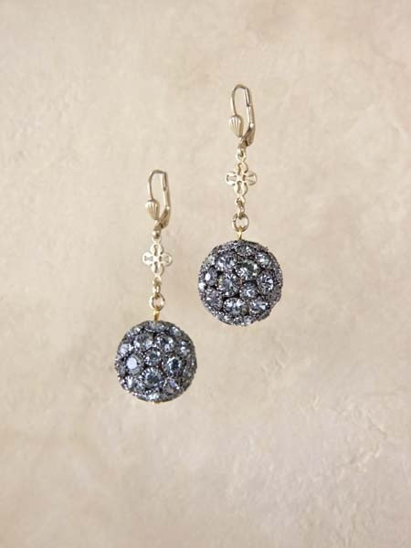 Boutique Theo crystal sphere earrings