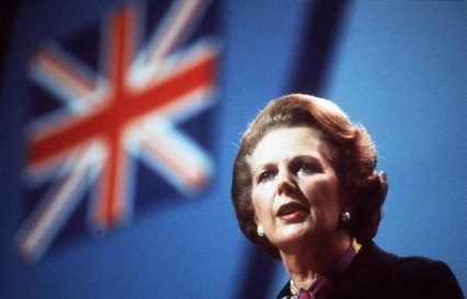 {Margaret Thatcher at Conservative party conference, 1982}